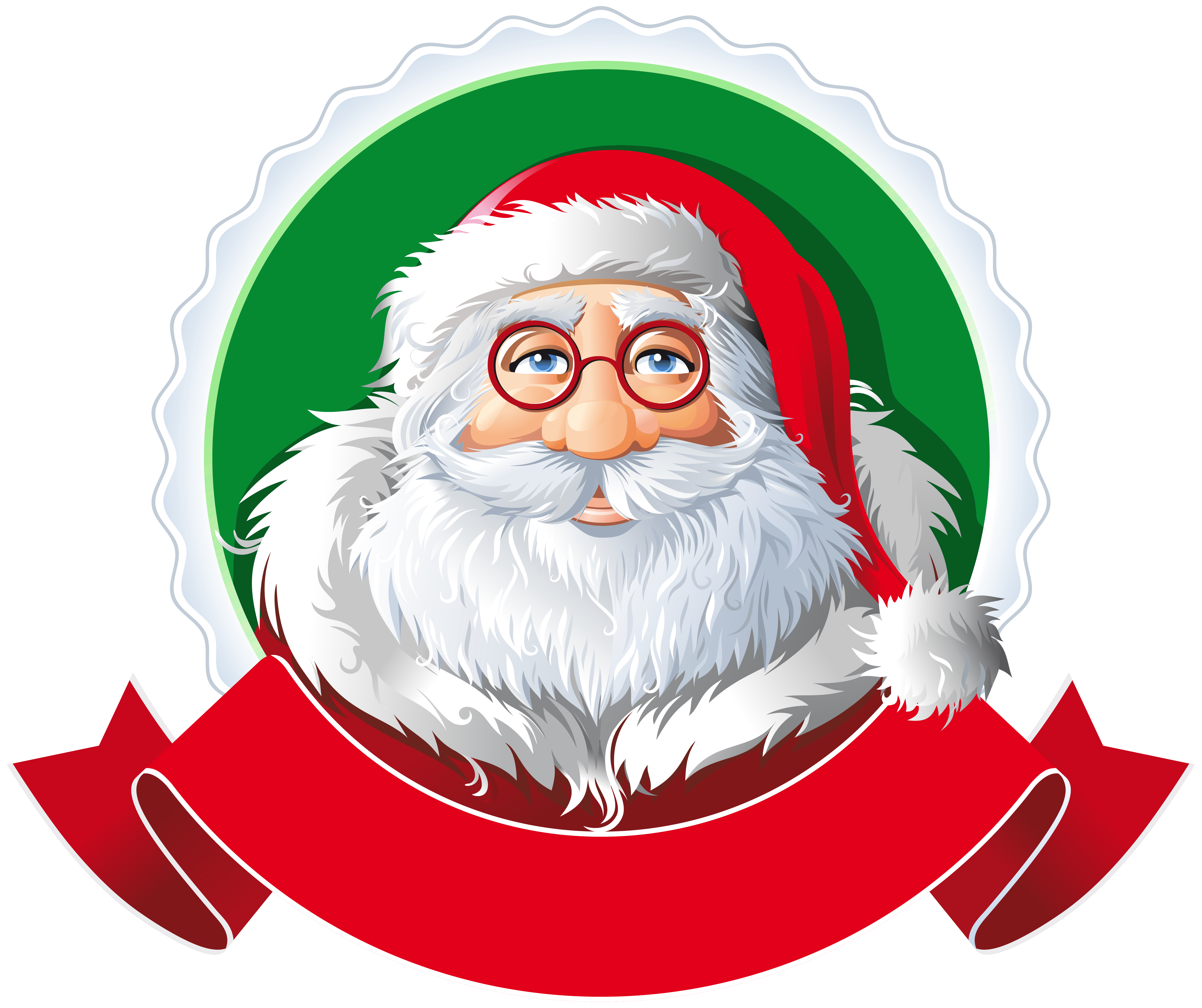 Banner with santa clipart svg library Santa with Red Banner PNG Clipart Image | Gallery Yopriceville ... svg library