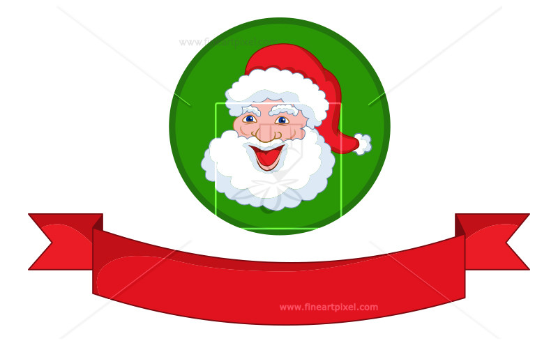 Banner with santa clipart banner black and white library Christmas Banner With Santa | Free vectors, illustrations, graphics ... banner black and white library
