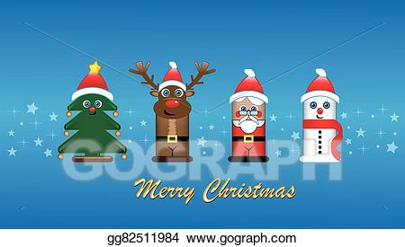 Banner with santa clipart clip art freeuse Vector Stock - Christmas banner with santa, rudolf. Clipart ... clip art freeuse