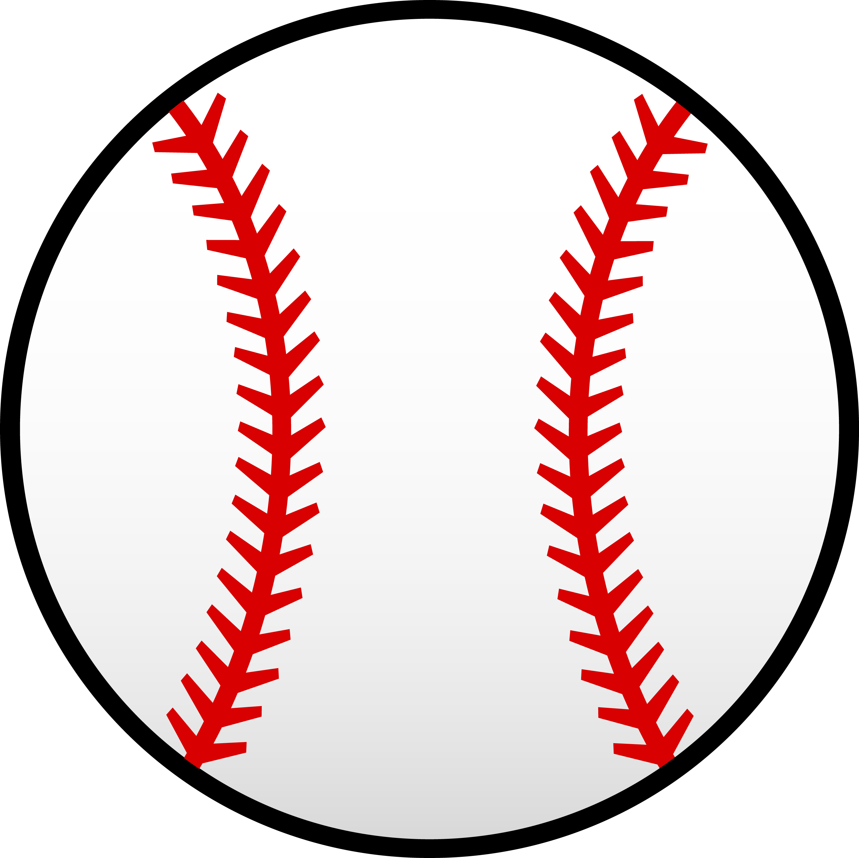 Free baseball clipart jpg black and white Baseball Pattern | White Baseball With Red Seams - Free Clip Art ... jpg black and white