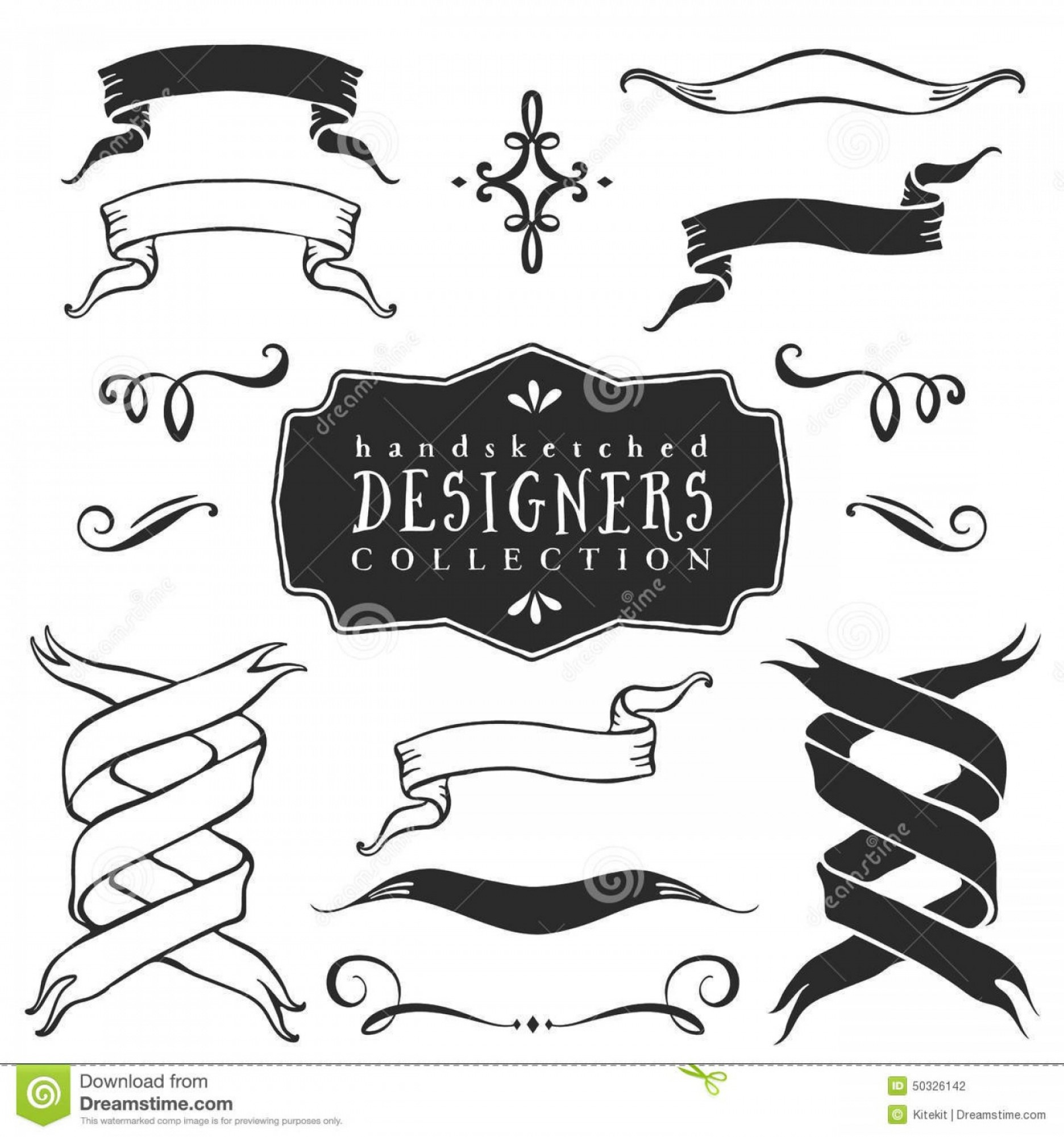Banners vintage vector clipart transparent stock Ribbon Banner Vector Printable Vintage | HandandBeak transparent stock