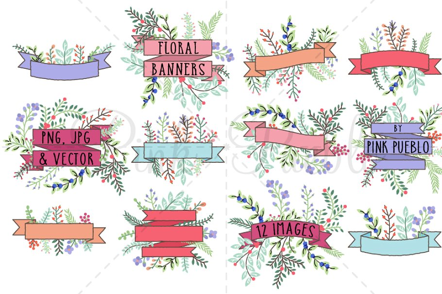 Banners vintage vector clipart banner free download Vintage Floral Banner Clipart Vector banner free download