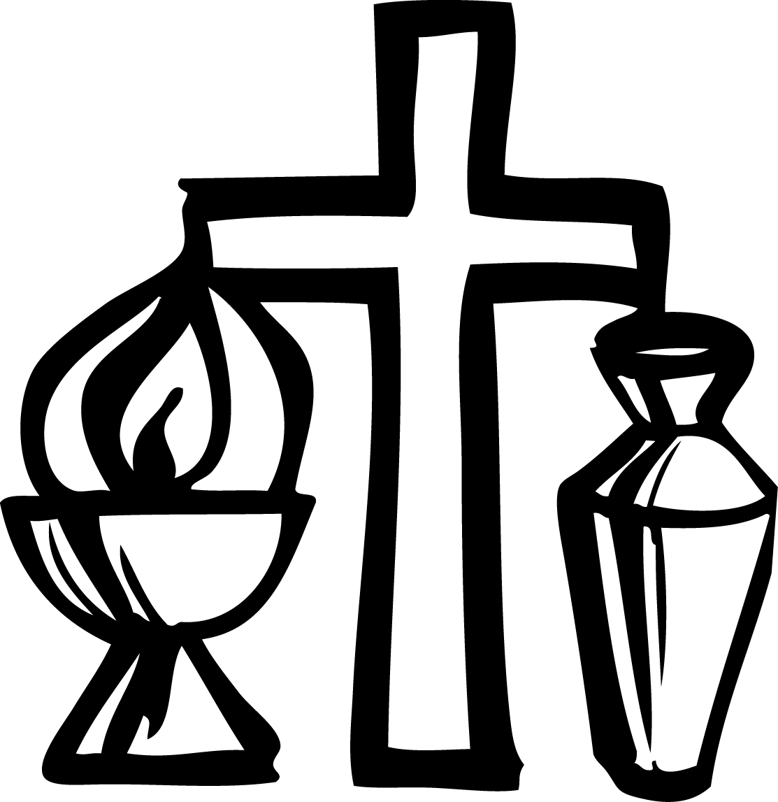 Baptism cross clipart black and white jpg black and white download Holy anointing oil Chrism Mass Baptism Clip art - baptism 1113*1147 ... jpg black and white download