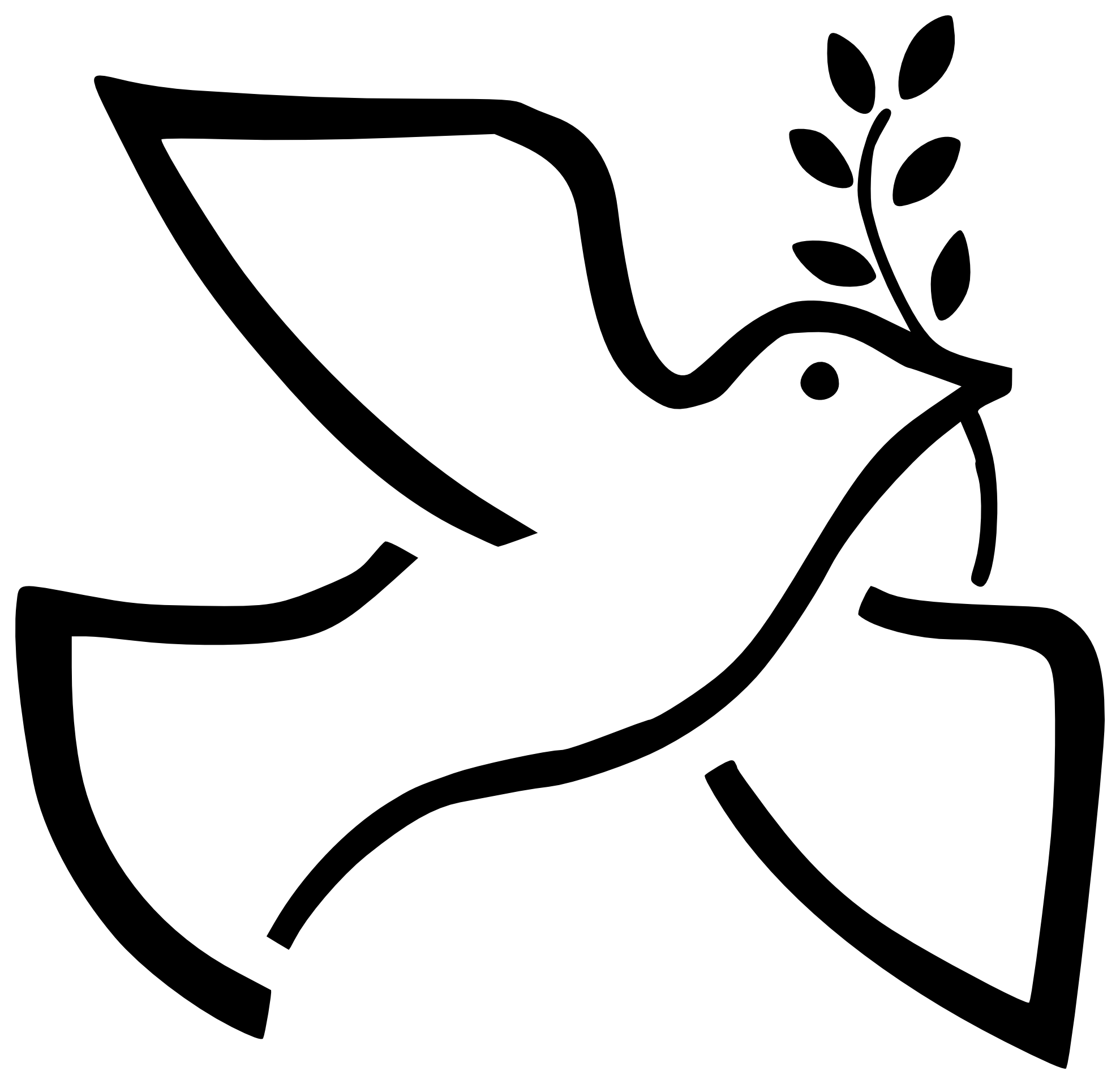 Doves and cross clipart svg free stock Dove black and white clipart - ClipartFest | ideas - peace dove ... svg free stock