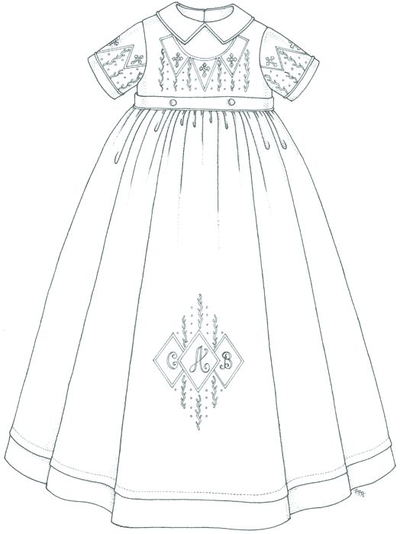 Baptism dress clipart graphic black and white Christening Gowns Lookbook graphic black and white