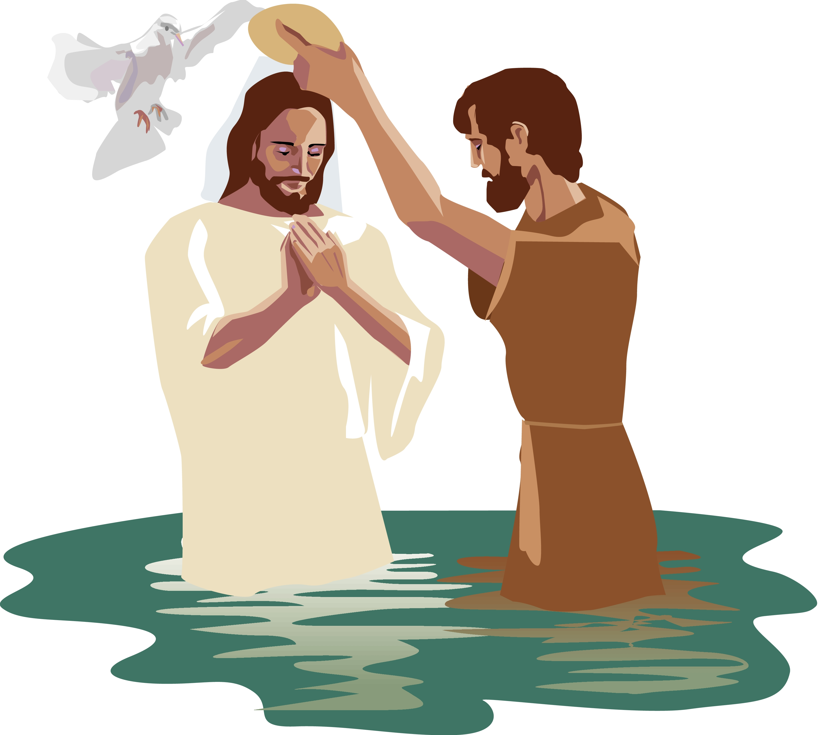 Baptism of christ clipart image freeuse library Baptism of jesus clipart clipartxtras - ClipartPost image freeuse library