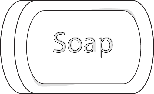 White bar clipart graphic library stock soap clip art | Soap Clip Art Image - black and white bar of soap ... graphic library stock