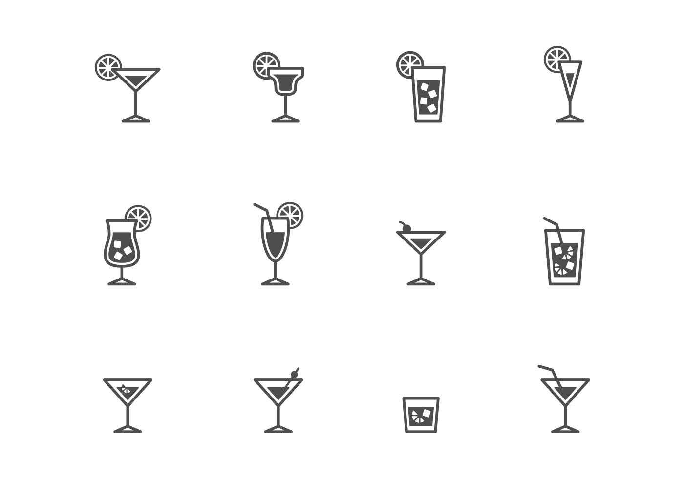 Bar sangria drinks clipart outline image transparent stock Cocktail Free Vector Art - (25,504 Free Downloads) image transparent stock