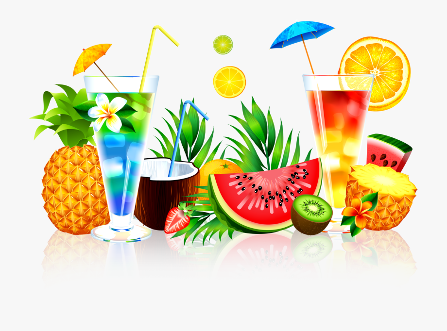 Bar sangria drinks clipart outline png Cocktails Clipart Pineapple Drink - Summer Juice Png #833530 - Free ... png