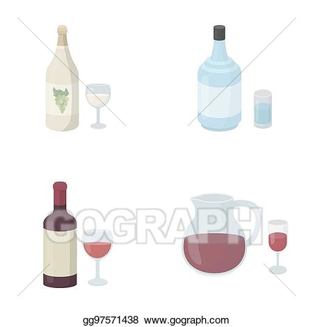 Bar sangria drinks clipart outline clip freeuse Stock Illustration - White wine, red wine, gin, sangria. alcohol set ... clip freeuse