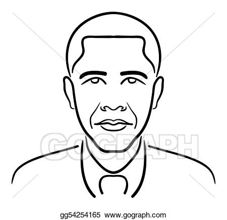 Obama clipart clip art royalty free Clip Art Vector - Barack obama line drawing. Stock EPS gg54254165 ... clip art royalty free