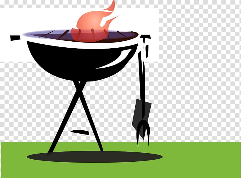 Barbecue cookout clipart graphic black and white library Barbecue grill Barbecue chicken Grilling , Barbeque Cookout ... graphic black and white library