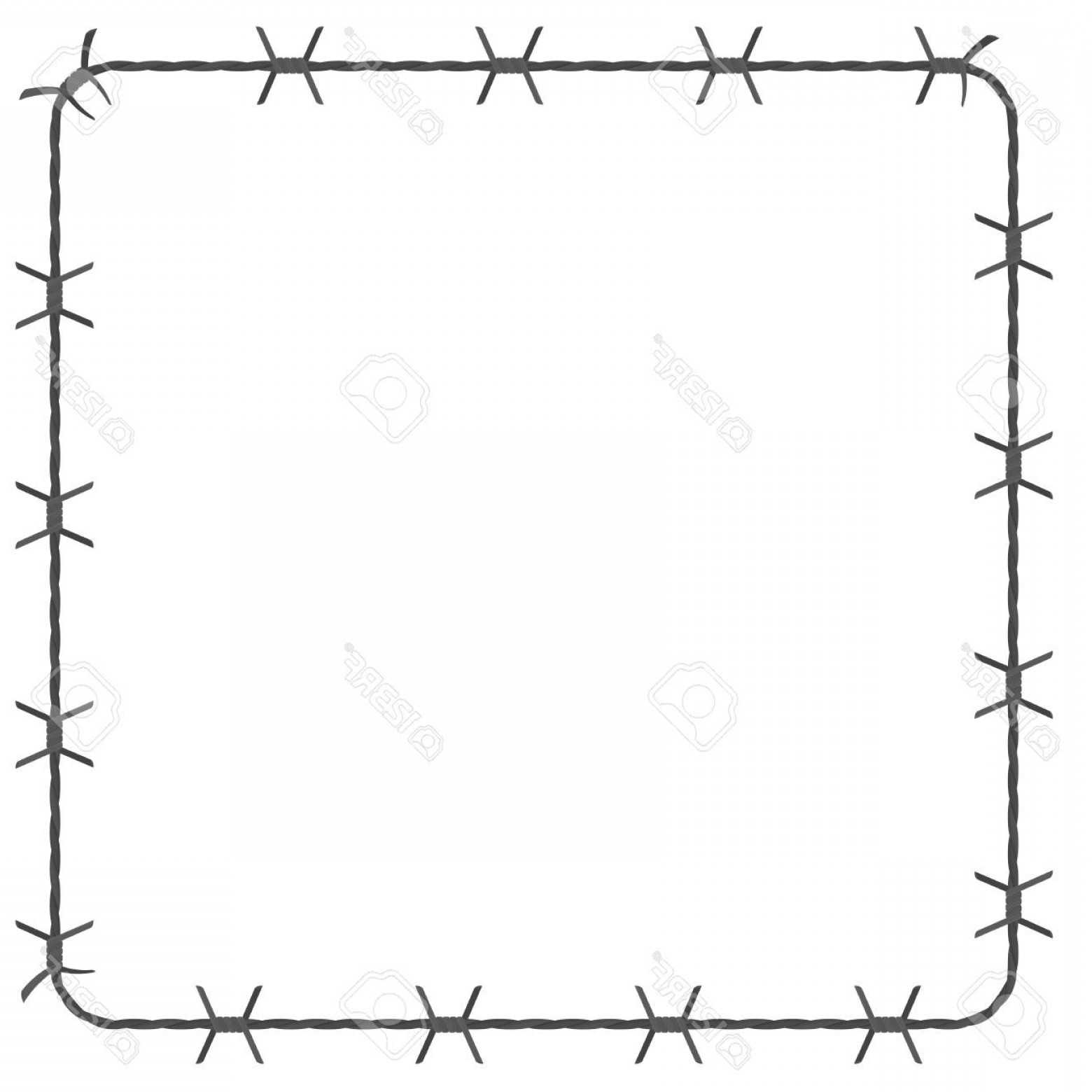 Barbed wire tornado clipart graphic freeuse library Photostock Vector Barbed Wire Square Border Vector Illustration ... graphic freeuse library