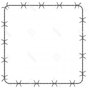 Barbed wire tornado clipart clipart black and white download Photostock Vector Barbed Wire Square Border Vector Illustration ... clipart black and white download