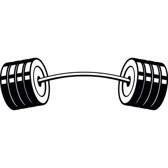 Barbell clipart image clip freeuse stock Printable Barbell Clipart Drawing Pictures Bent Png - Clipart1001 ... clip freeuse stock