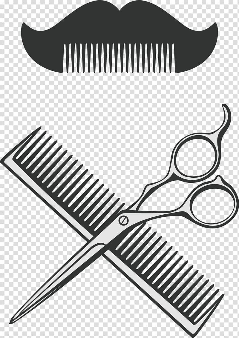Barber comb clipart image freeuse stock Scissor and hair comb illustration, Comb Scissors Barber, Barber ... image freeuse stock