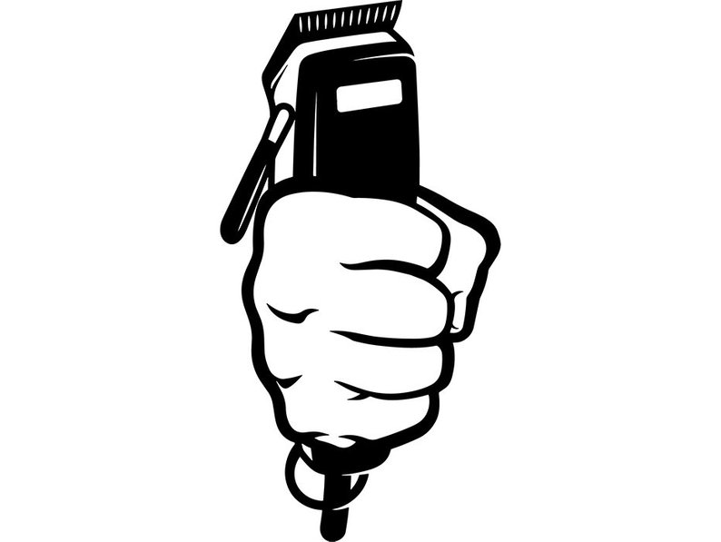 Barber electric clippers clipart vector b w image Hair Clipper Drawing | Free download best Hair Clipper Drawing on ... image