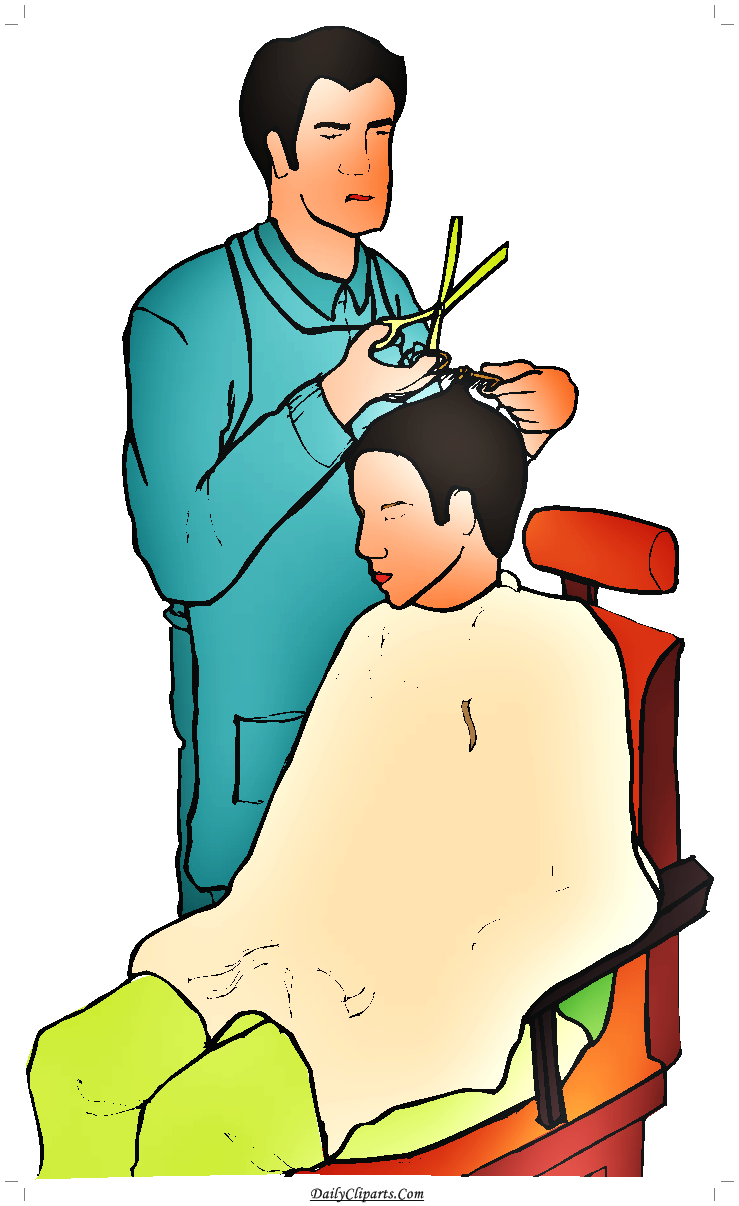 Clipart barber download Barber Cutting Hair Saloon Clipart Image | Daily Cliparts download