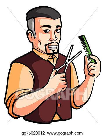 Clipart barber image freeuse download Vector Clipart - Barber shop. Vector Illustration gg75023012 - GoGraph image freeuse download