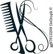 Barber scissors and comb clipart jpg library stock Hair Scissors Clip Art - Royalty Free - GoGraph jpg library stock