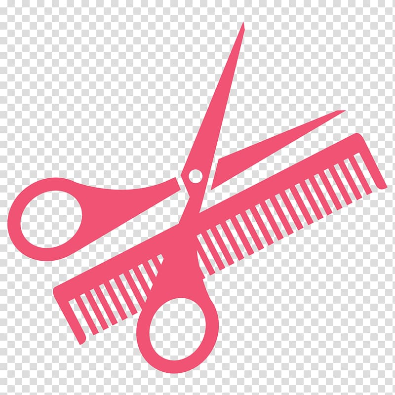Barber scissors and comb clipart clipart stock Red scissors and comb illustration, Comb Scissors , Hairdressing ... clipart stock
