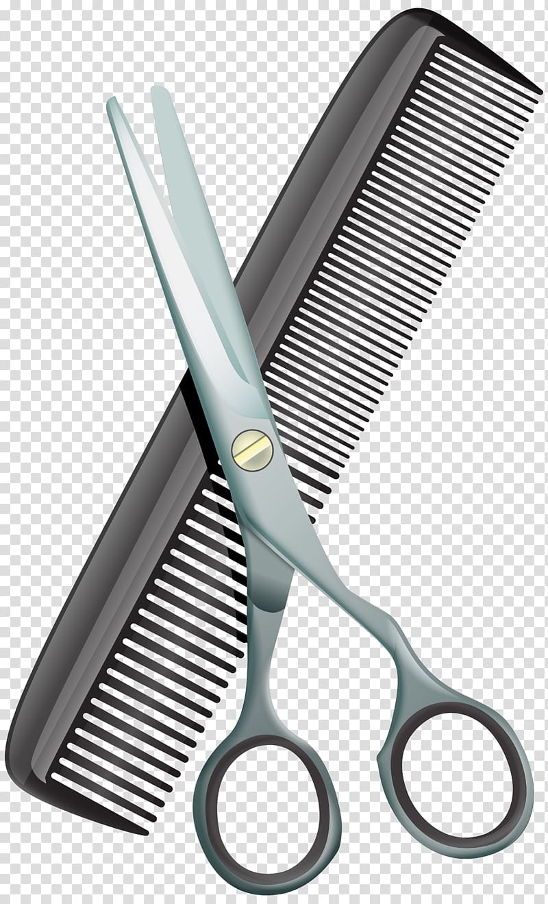 Barber scissors and comb clipart png free download Scissors and comb illustration, Comb Scissors Hair-cutting shears ... png free download