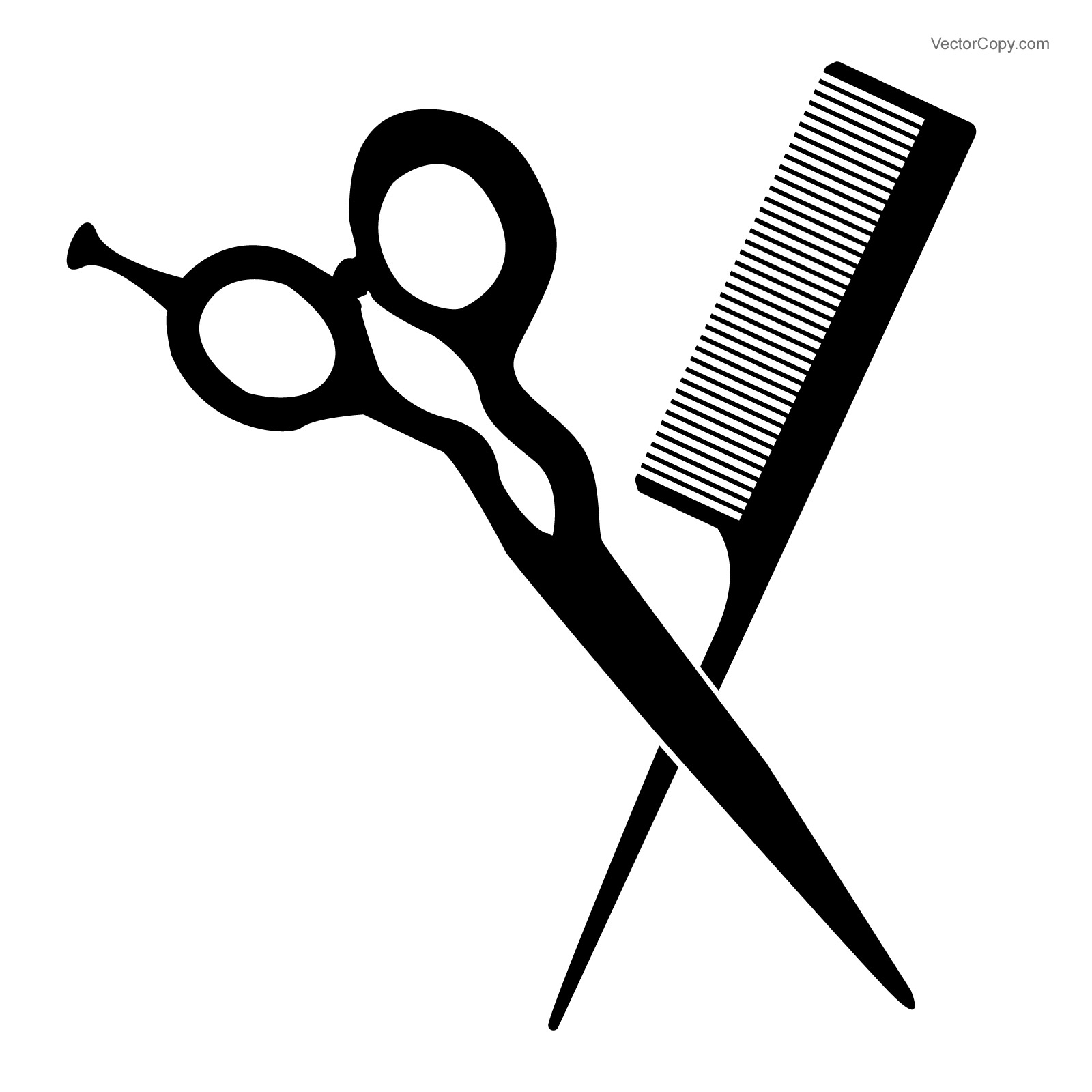 Comb and scissors clipart black and white image transparent Comb And Scissors Clipart | Free download best Comb And Scissors ... image transparent