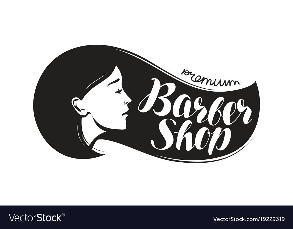 Barber shop logo vector clipart