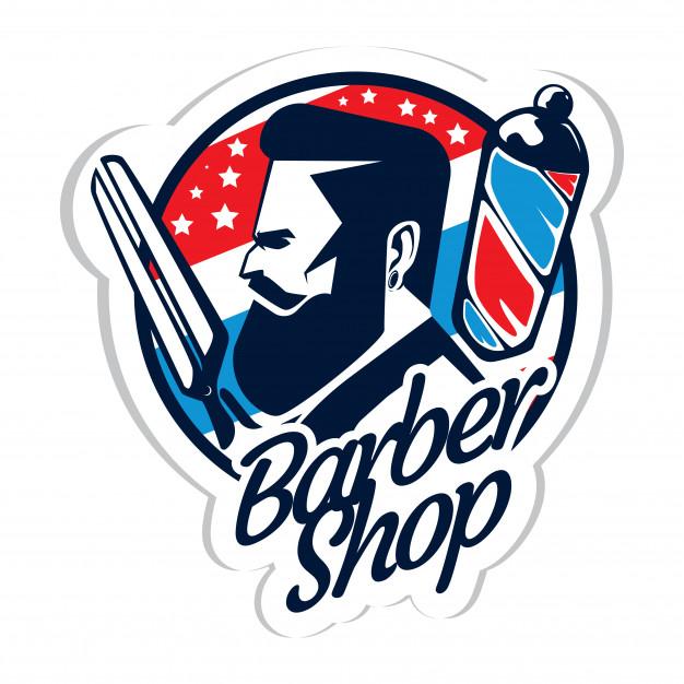 Barber shop logo vector clipart png transparent download Barber shop logo Vector   Premium Download png transparent download