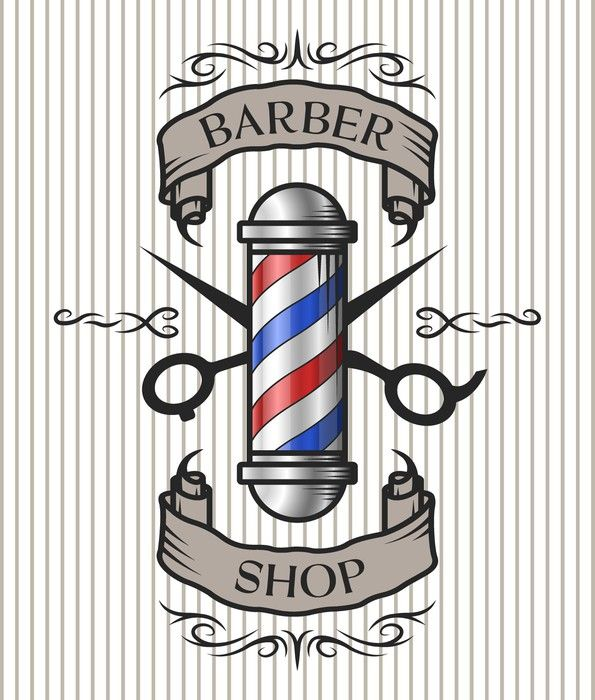Barber shop symbol clipart picture free download Barber shop emblem. Wall Mural • Pixers® - We live to change in 2019 ... picture free download