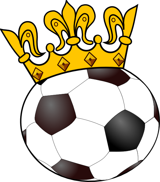Halftone football clipart image library library Princess of the Soccer Pitch | Soccer ball with crown clip art ... image library library
