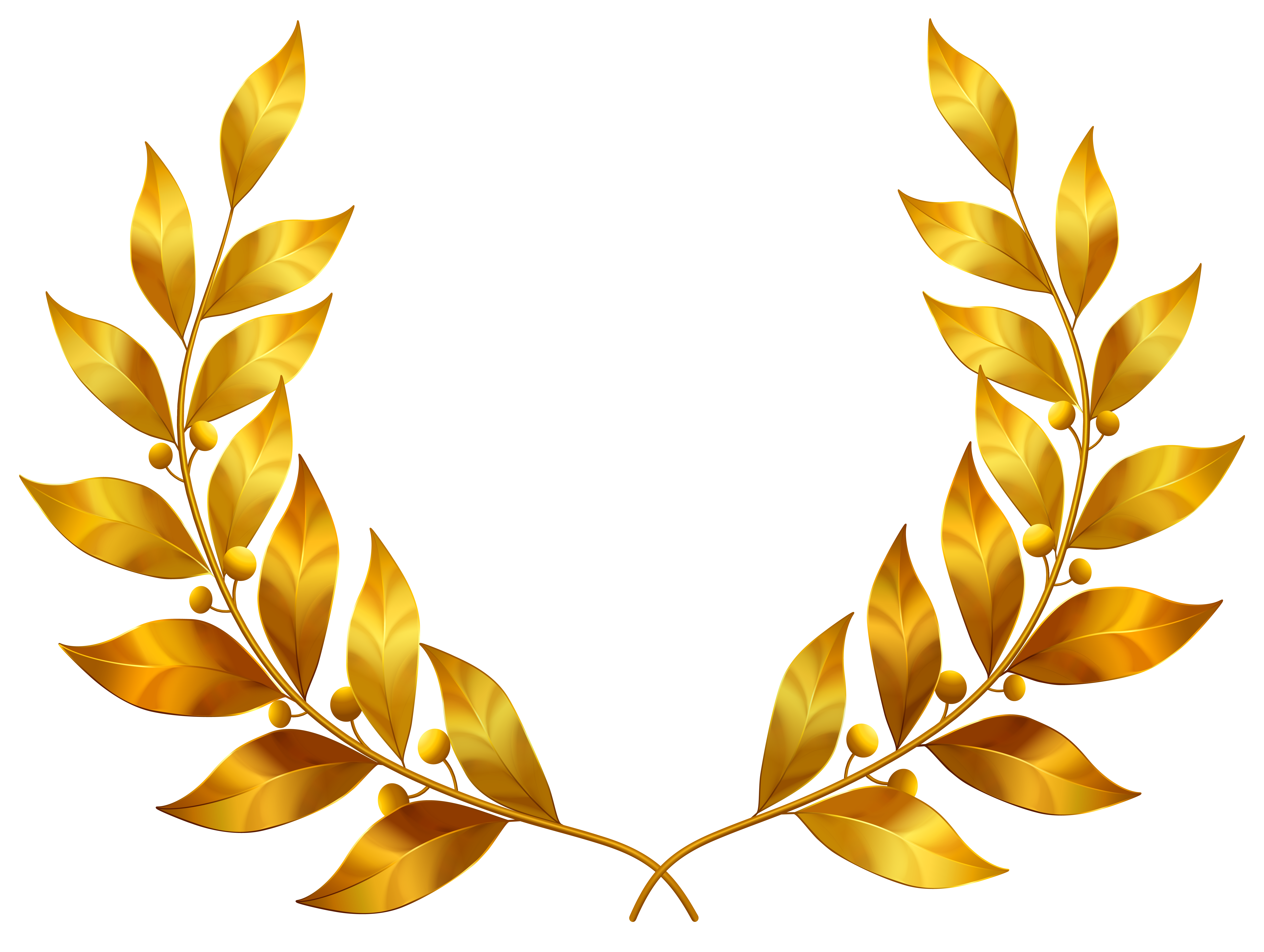 Leaf with crown clipart svg royalty free Laurel Leaves PNG Clipart Image | Gallery Yopriceville - High ... svg royalty free