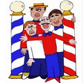Barbershop quartet clipart free