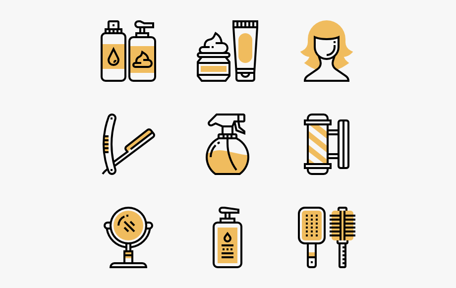 Barbershop icons logos cliparts png royalty free library Barber Shop - Operating System Icon Png #432404 - Free Cliparts on ... png royalty free library