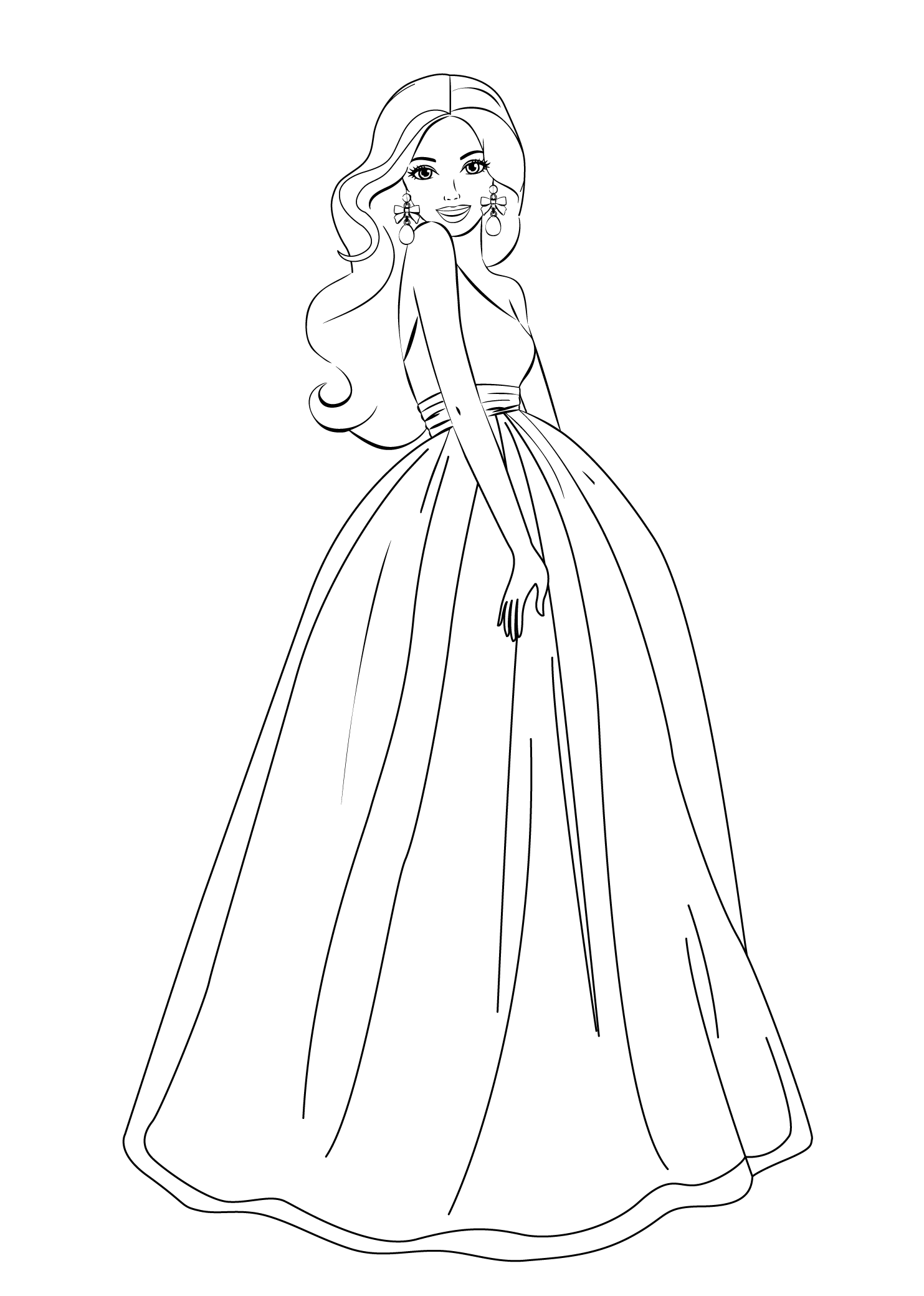 Barbie clipart drawing jpg Barbie coloring pages for girls free printable | Barbie | Barbie ... jpg