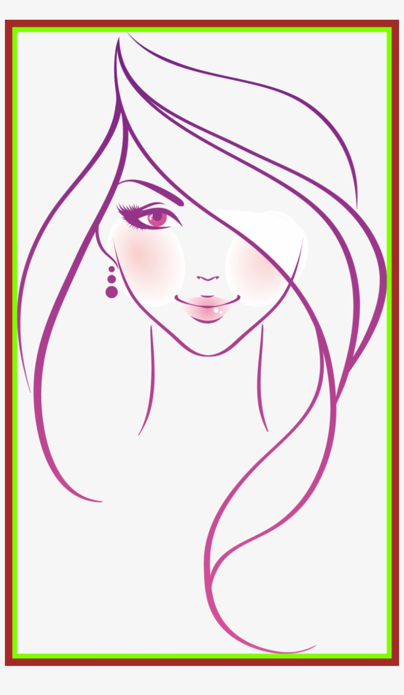 Barbie clipart drawing png freeuse Barbie Drawing Barbie Head Drawing Fascinating Orig - Woman Sketch ... png freeuse
