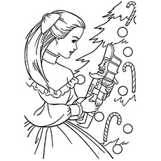 Barbie nutcracker movie images of the nutcracker clipart picture black and white download Top 20 Free Printable Nutcracker Coloring Pages Online picture black and white download