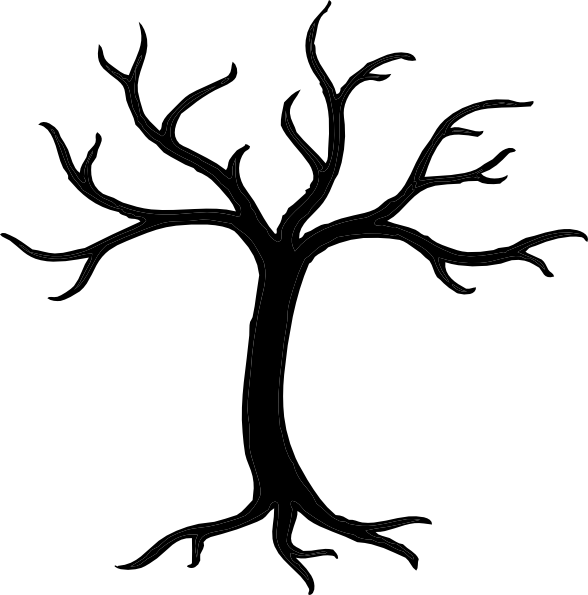 Clipart tree branches svg stock Bare Tree Clipart Black And White | Clipart Panda - Free Clipart Images svg stock