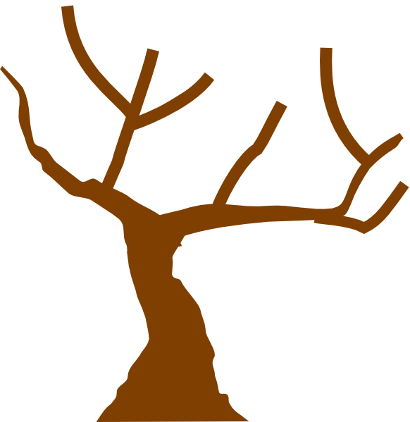 28+ Collection of Brown Tree Trunk Clipart | High quality, free ... jpg black and white stock