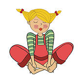 Barefoot clipart clipart free library Barefoot Girl Sitting Clip Art - Royalty Free - GoGraph clipart free library