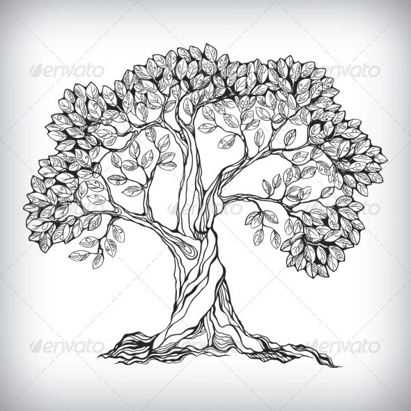 Barer tree images clipart image royalty free download Hand Drawn Tree Symbol - Flowers & Plants Nature | treehouse | Tree ... image royalty free download
