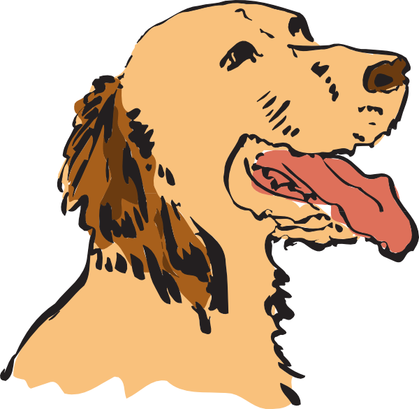 Panting clip art at. Family clipart with dog