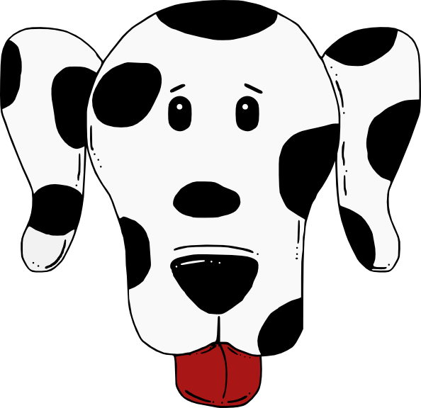 Dog mask clipart. Spotty clip art at
