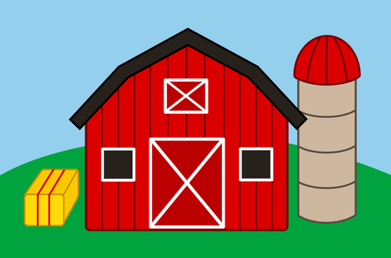 Free clip art of a cute red barn and silo on a farm | Assorted free ... clip download