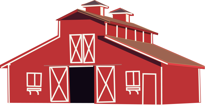 Free Clipart: Red barn | Rfc1394 png library stock