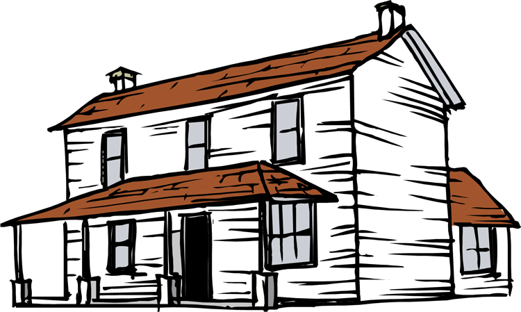 Free house image clipart png black and white library Farm House Clipart at GetDrawings.com | Free for personal use Farm ... png black and white library