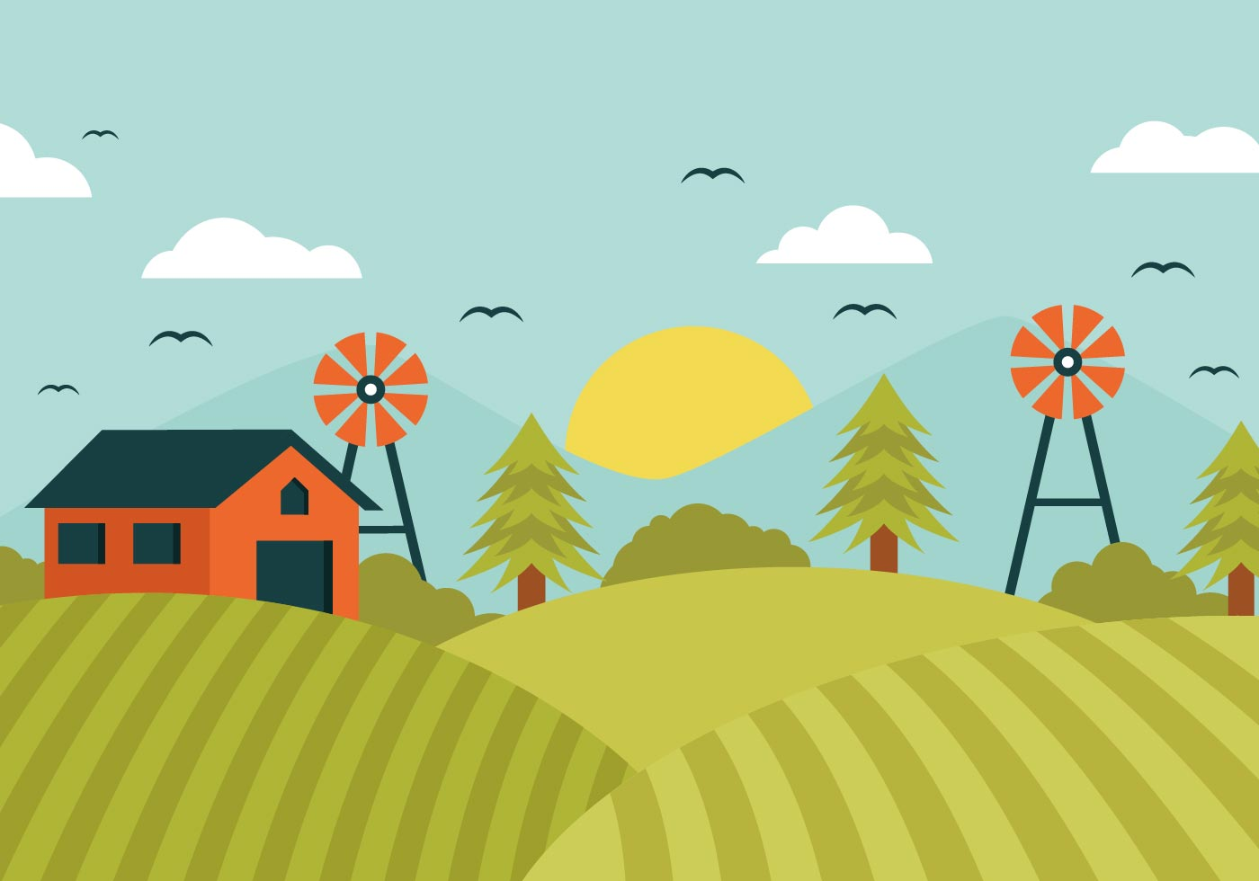 Barn on hill clipart picture stock Farm Free Vector Art - (30,450 Free Downloads) picture stock