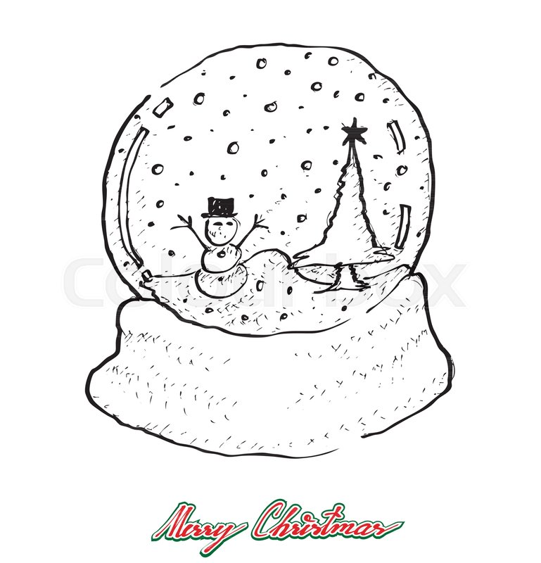 Barn snow globes clipart steps to draw svg download Snow Globe Sketch at PaintingValley.com | Explore collection of Snow ... svg download