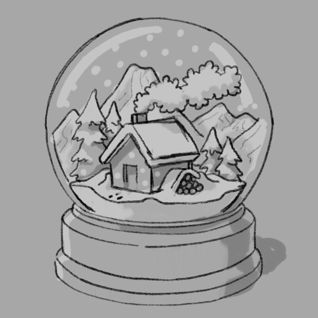 Barn snow globes clipart steps to draw svg transparent download Snow Globe Sketch at PaintingValley.com | Explore collection of Snow ... svg transparent download