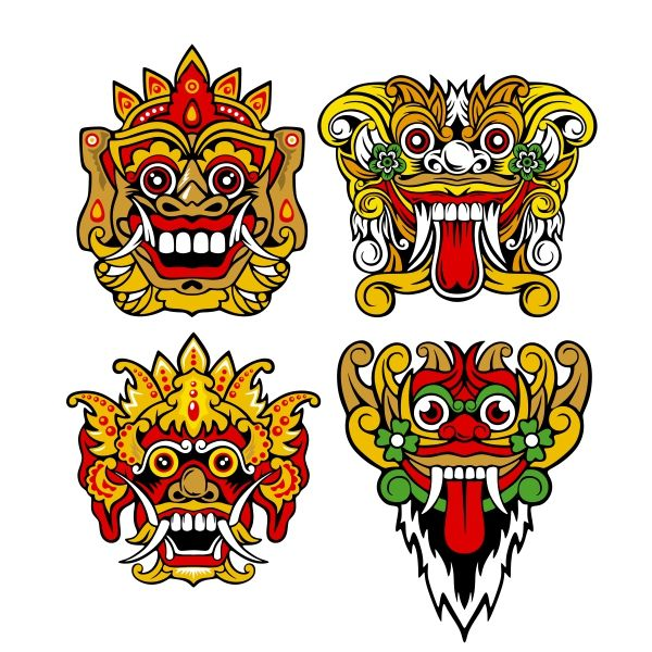 Barong bali clipart banner library stock Pin by CuttableDesigns on Cities and States in 2019 | Barong, Mask ... banner library stock